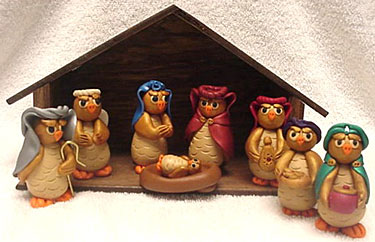 Owl nativity